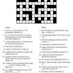 Printable Crosswords | Commoner Crosswords   Printable Crossword Solutions