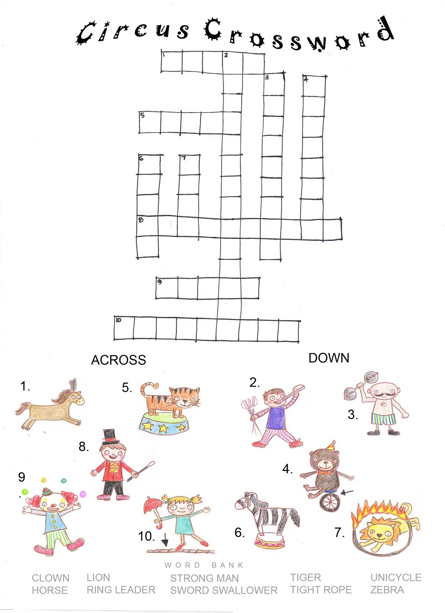 Printable Crosswords Puzzles Kids | Activity Shelter - Printable Crossword Puzzles Horses