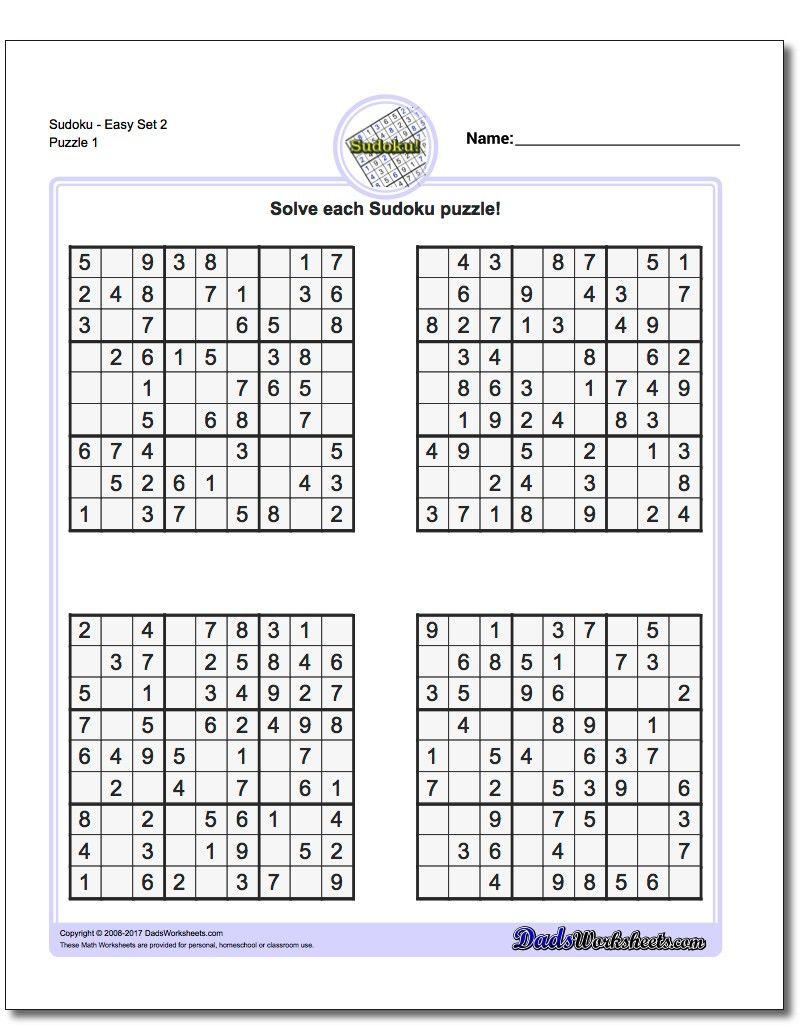 Printable Easy Sudoku | Math Worksheets | Sudoku Puzzles, Maths - Printable Sudoku Puzzles 8 Per Page