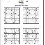 Printable Evil Sudoku Puzzles   Math Worksheets   Sudoku Puzzles   Printable Sudoku Puzzle With Answer Key