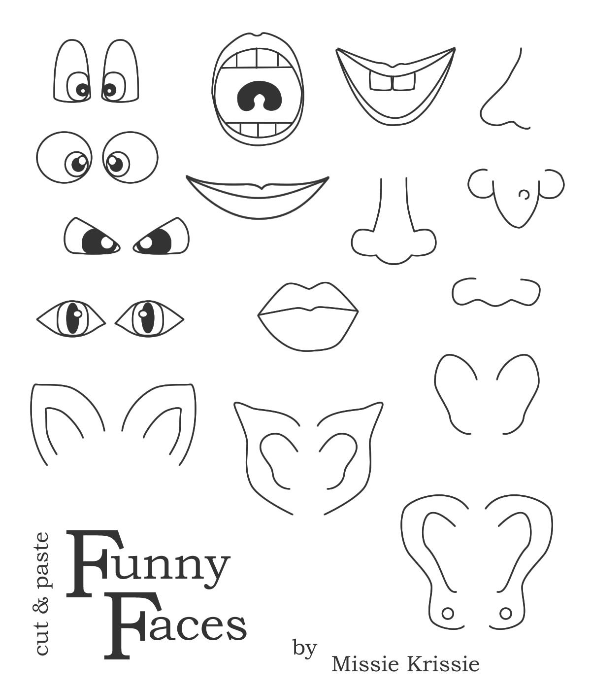 Printable Funny Face Images |  , Wait For It To Load, Right Click - Printable Face Puzzle