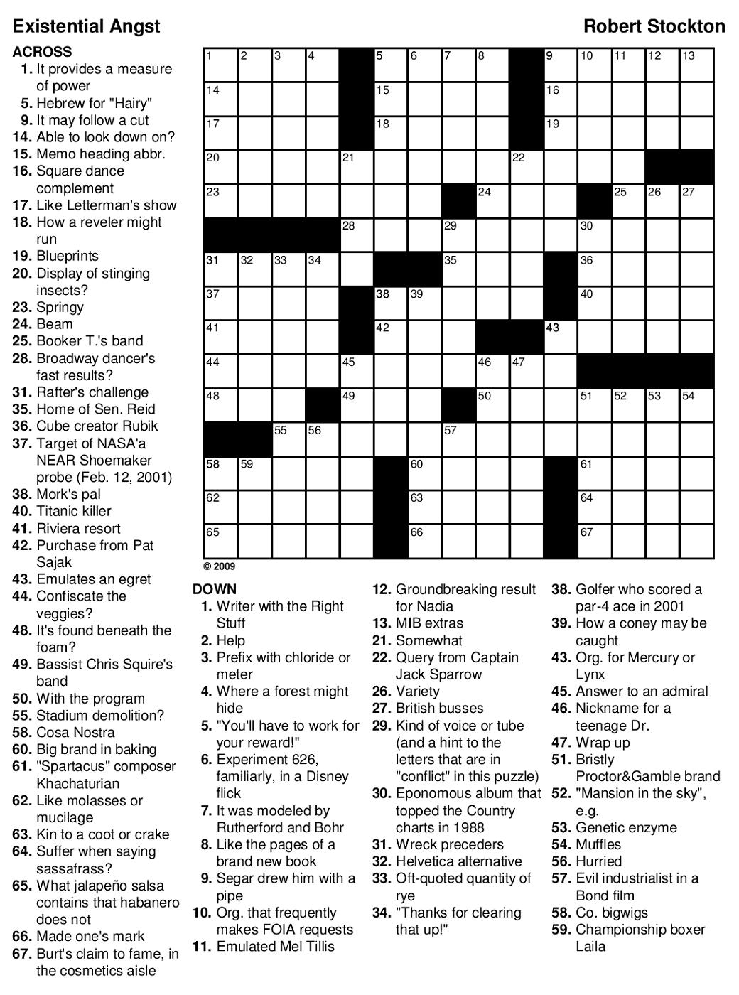 Printable Games For Adults | Mental State | Printable Crossword - Medium Hard Crossword Puzzles Printable