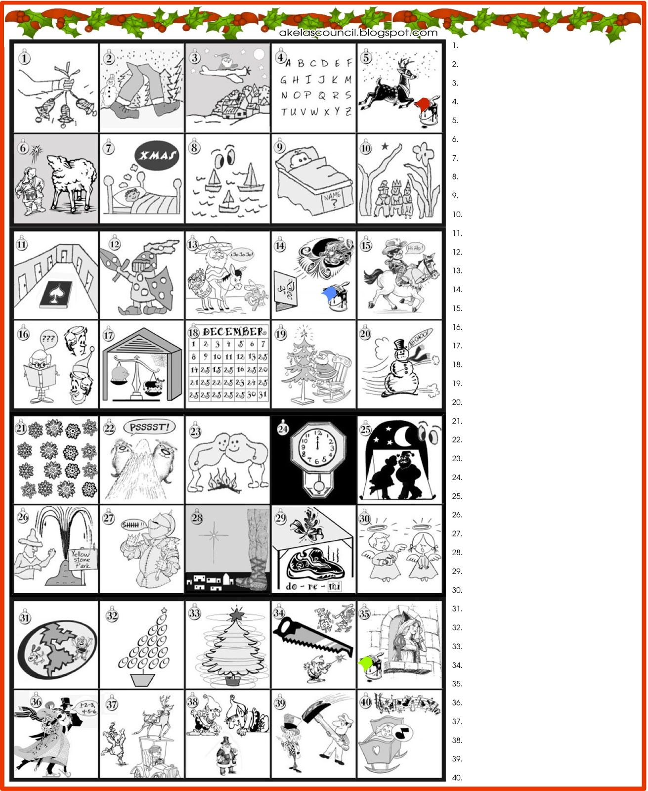 Printable * Guess The Christmas Songs Or Carols Word Puzzle - Printable Office Puzzles