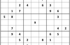 Printable Sudoku Puzzles Very Hard