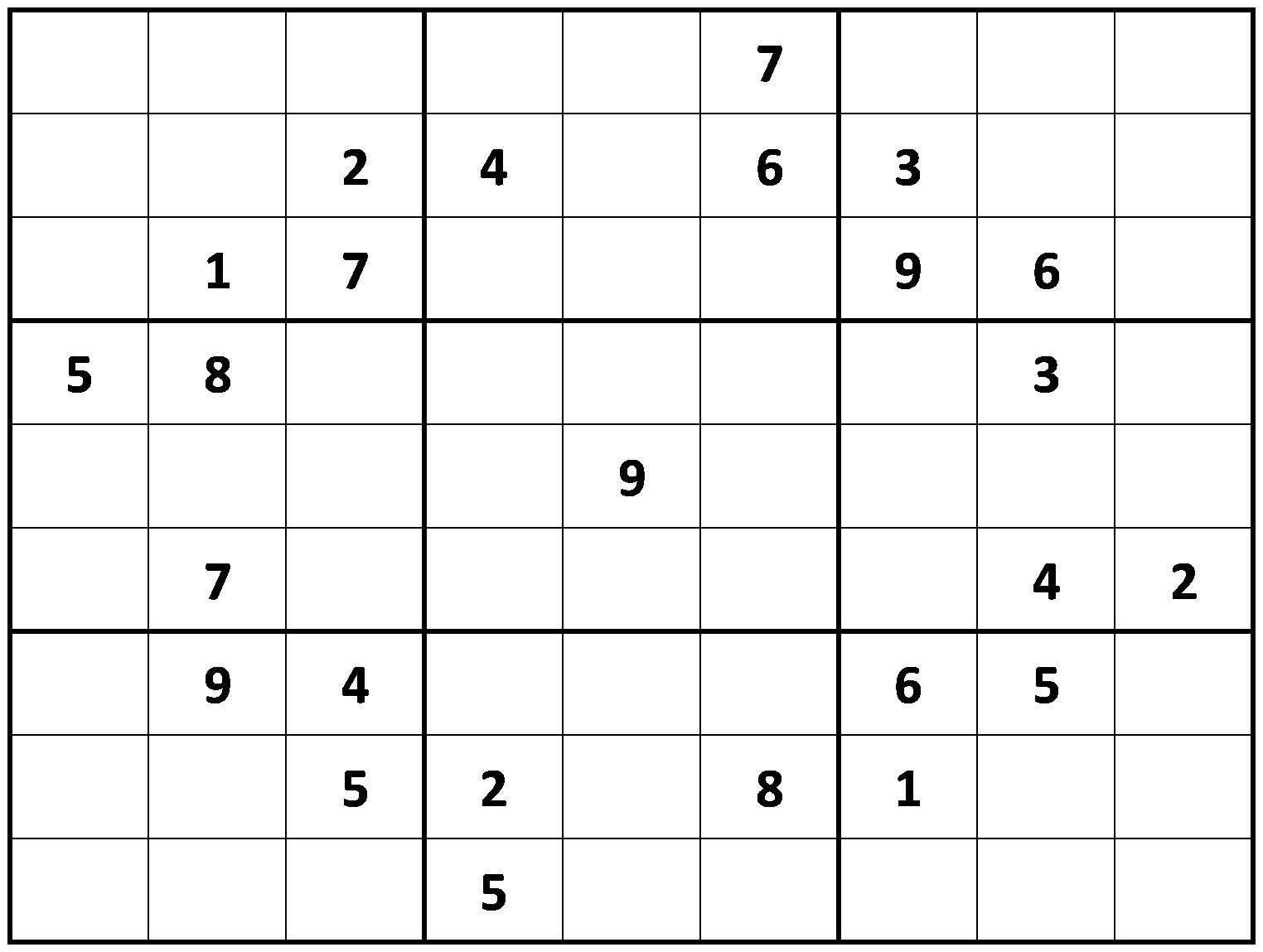 Printable Hard Sudoku   Printable - Difficult Sudoku Puzzles - Printable Sudoku X Puzzles