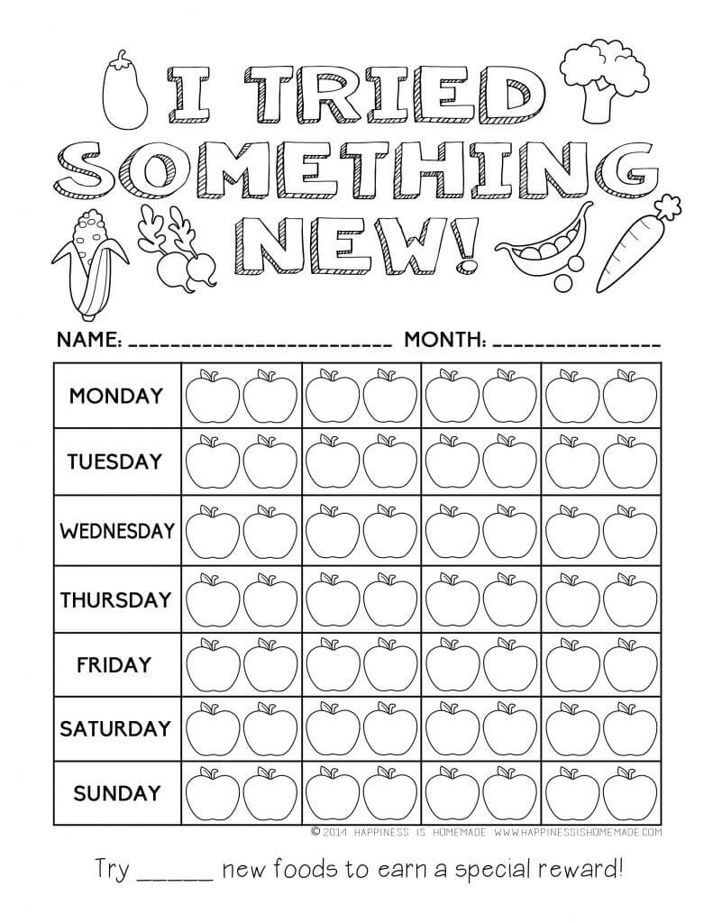 Printable Healthy Eating Chart & Coloring Pages - Happiness Is Homemade - Printable Nutrition Puzzles For Adults