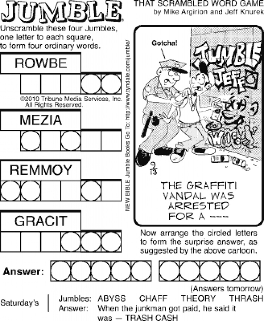 Printable Jumble Puzzles - Printable 360 Degree Intended For Free - Printable Jumble Crossword Puzzles