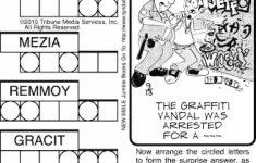 Printable Jumble Puzzles
