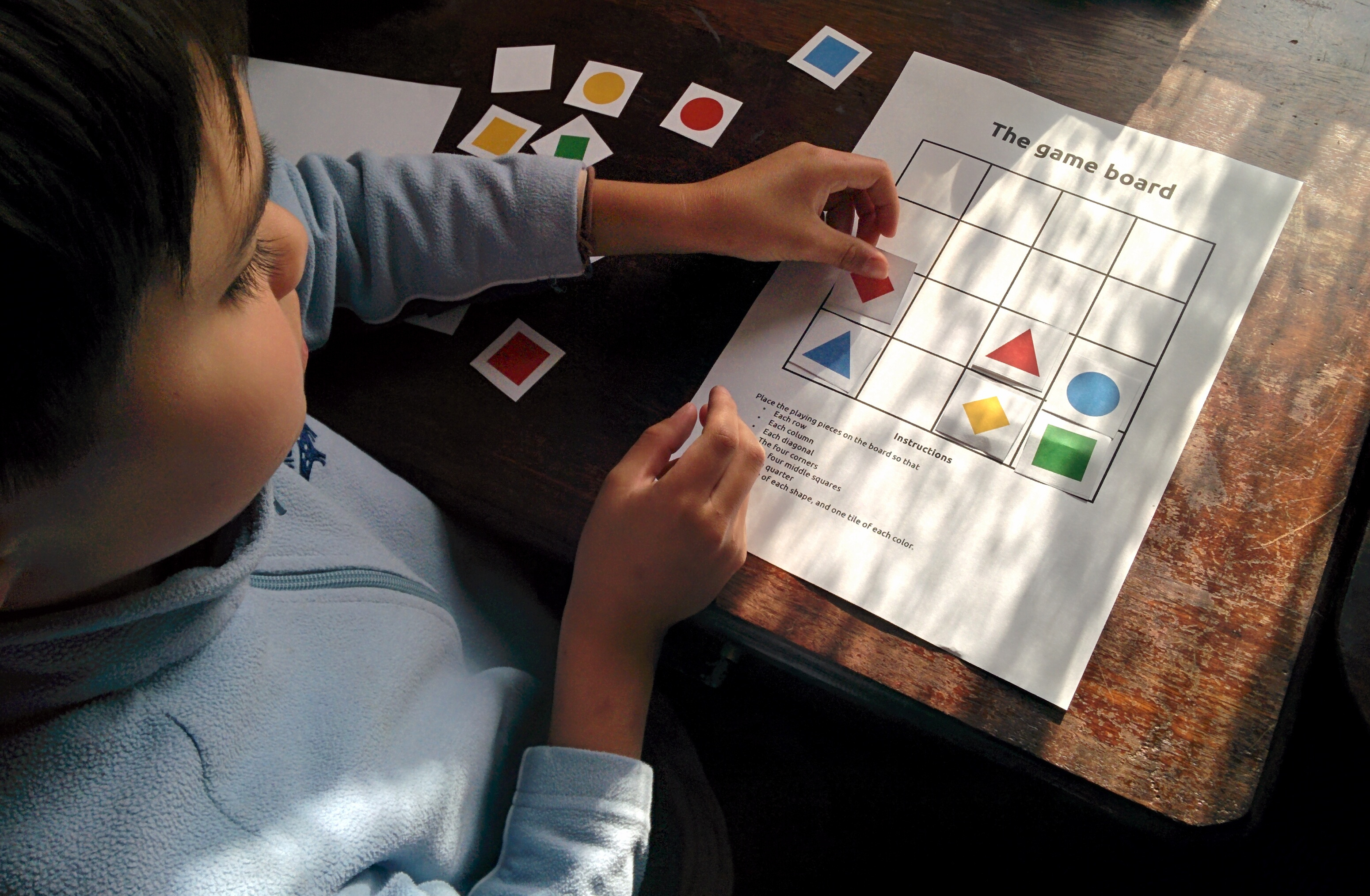 Printable Latin Square Puzzle | Dr Mike's Math Games For Kids - Printable Square Puzzle