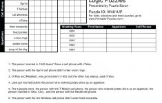 Printable Logic Puzzle Grid
