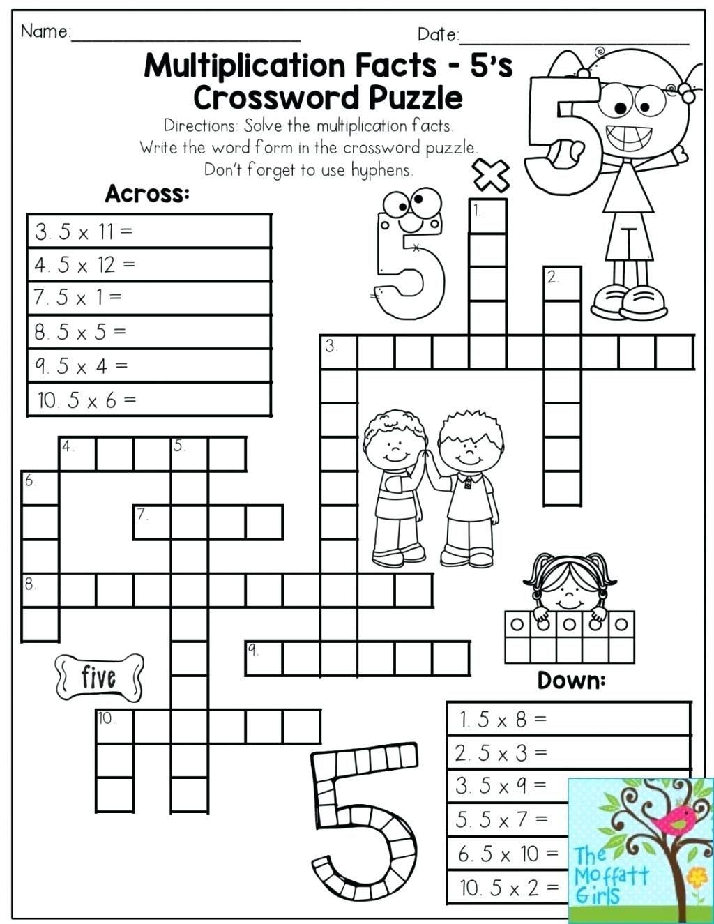 Printable Math Puzzles 5Th Grade Maths Ksheets Middle School Pdf Fun - Printable Math Puzzles Pdf