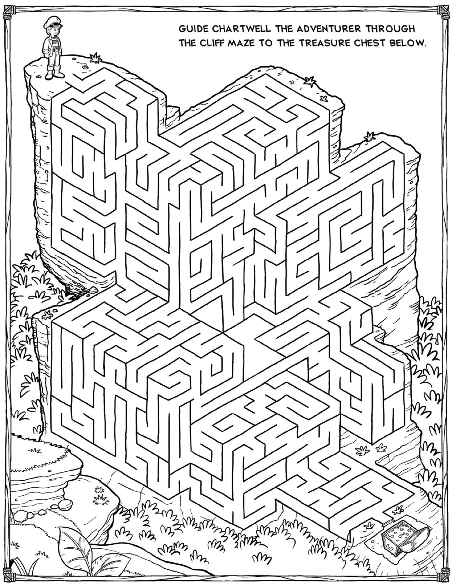 Printable Mazes - Best Coloring Pages For Kids - Printable Puzzles And Mazes