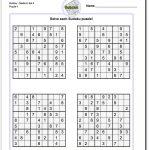 Printable Medium Sudoku Puzzles | Math Worksheets | Sudoku Puzzles   Printable Crossword Puzzles 1978