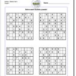 Printable Medium Sudoku Puzzles | Math Worksheets | Sudoku Puzzles   Printable Puzzles Answers