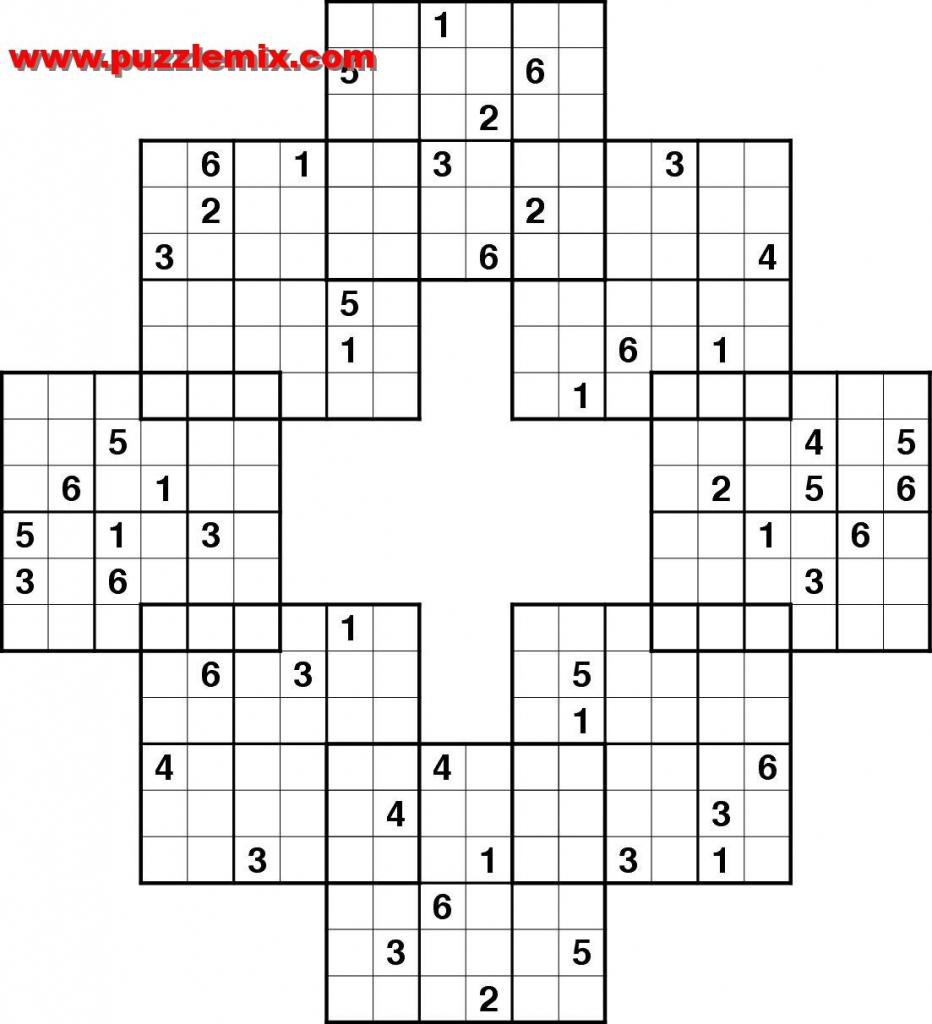 Printable Mega Sudoku Puzzles | Printable Sudoku Free - Printable Crossword Sudoku Puzzles