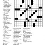 Printable People Magazine Crossword Puzz   Free Printable Crossword Puzzle #1
