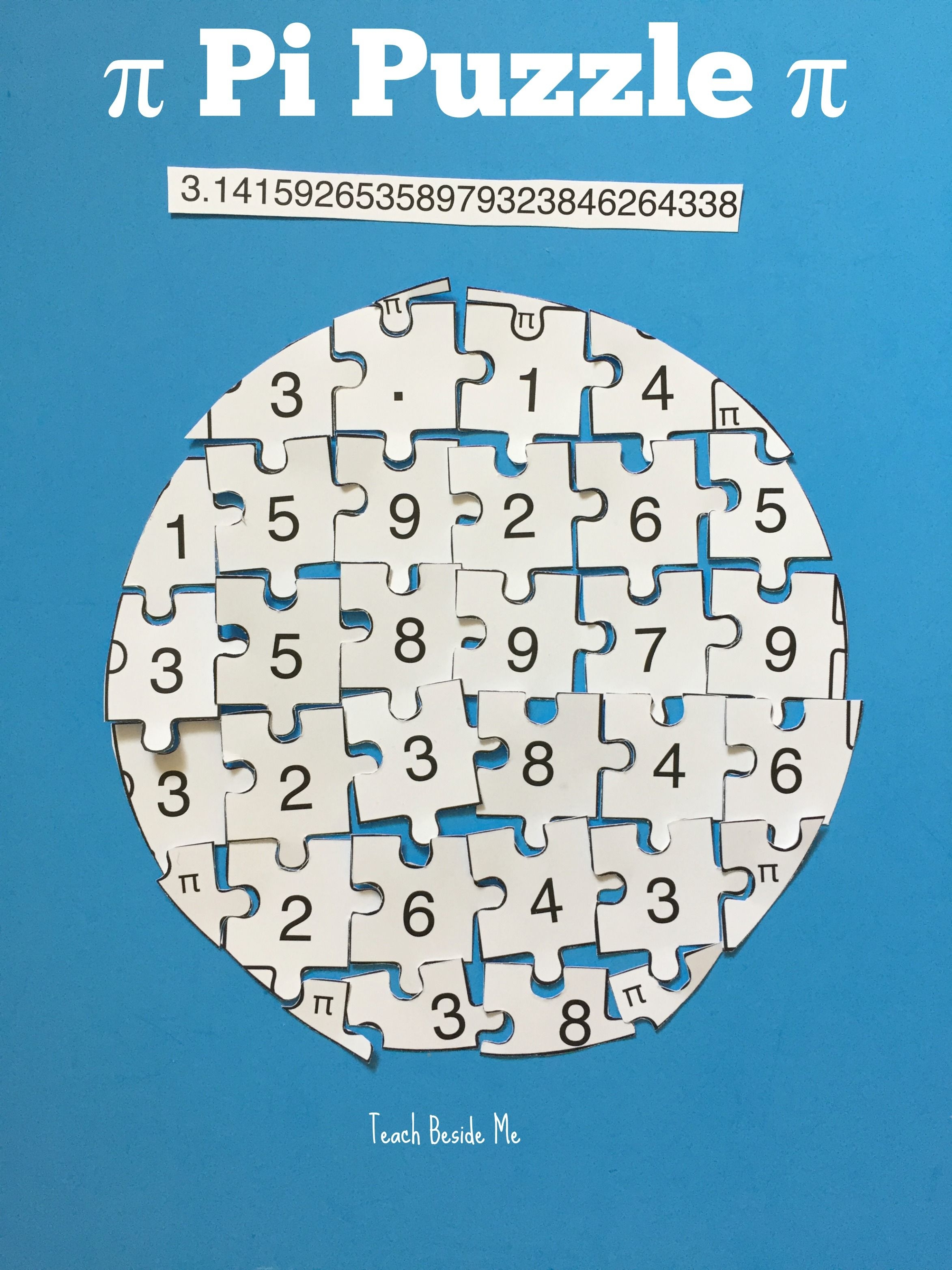 Printable Pi Puzzle For Pi Day | Teach Beside Me | Teaching Math - Printable Puzzle Of The Day