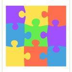 Printable Puzzle Piece Stickers   Tim's Printables   6 Piece Printable Puzzle
