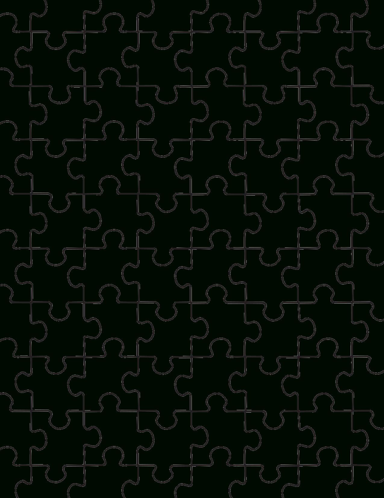 Printable Puzzle Pieces Template | Decor | Puzzle Piece Template - Printable Large Puzzle Pieces