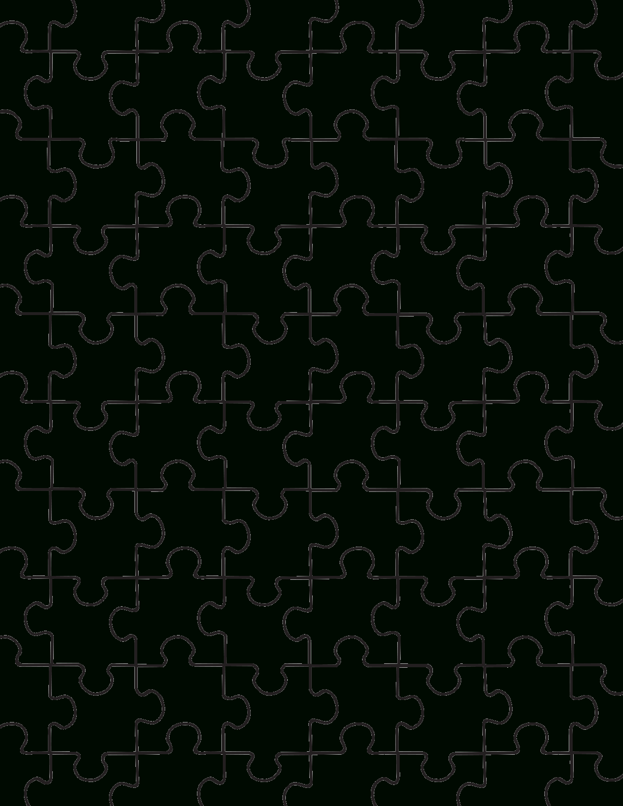 Printable Puzzle Pieces Template   Lovetoknow - Printable Puzzle Template Pdf