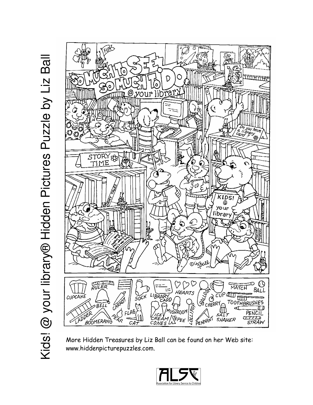 Printable Puzzles For Adults | Kids Your Library® Hidden Pictures - Printable Hidden Object Puzzles For Adults