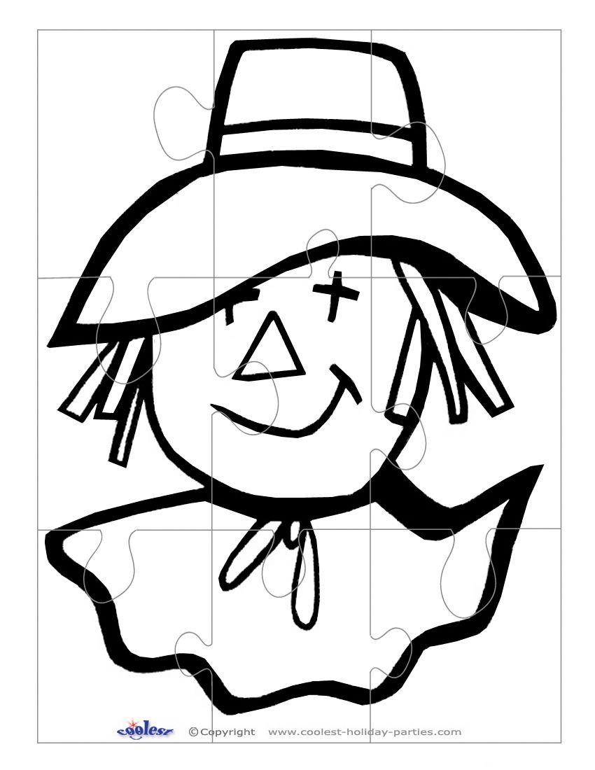 Printable Scarecrow Face - Google Search | Halloweekend 2017 - Printable Face Puzzle