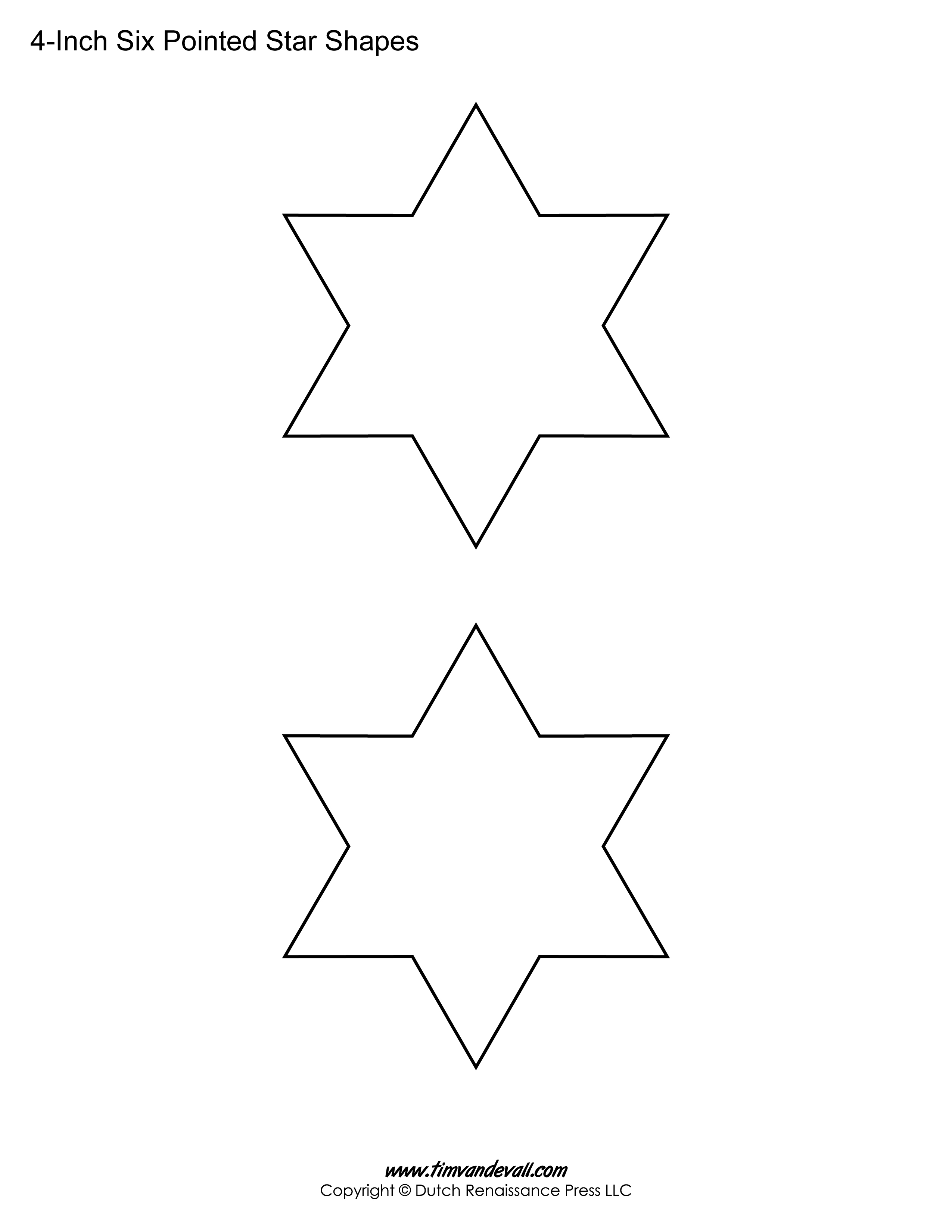 Printable Six Pointed Star Templates | Blank Shape Pdf Downloads - Printable Star Puzzle