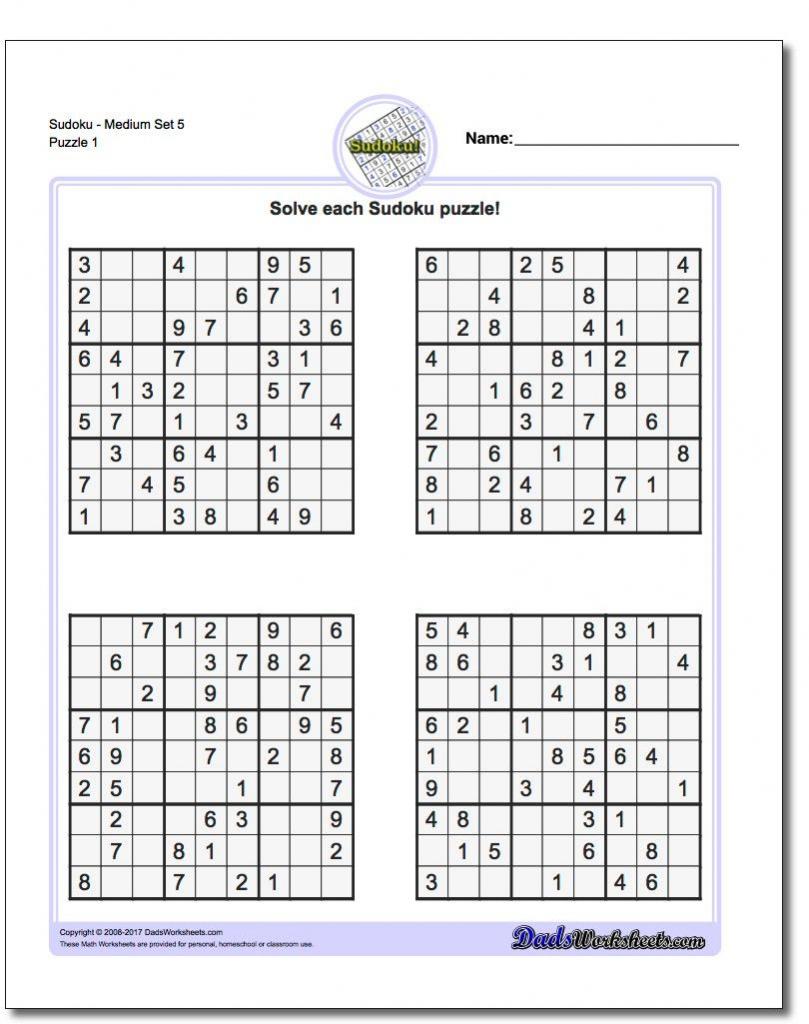 Printable Sudoku 4 Per Page | Printable Sudoku Free - Printable Sudoku Puzzles 4 Per Page