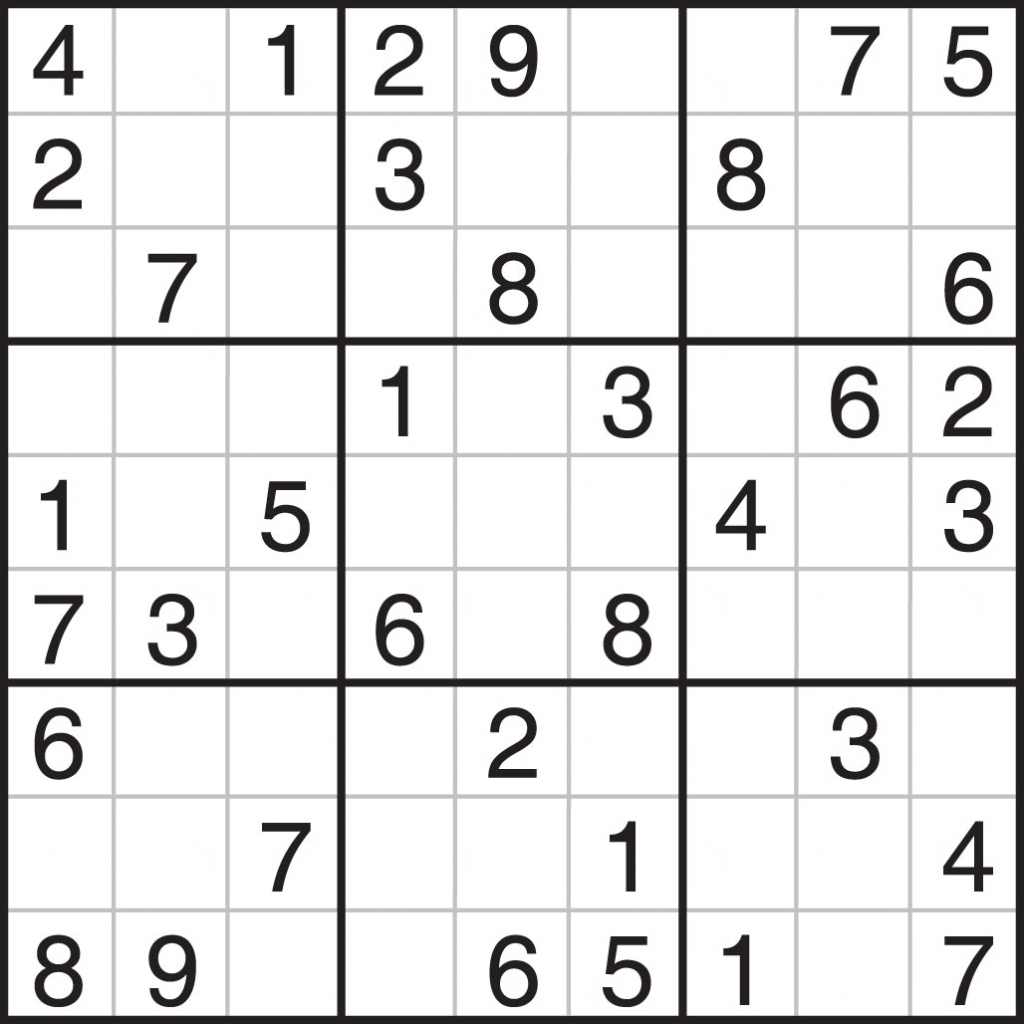 Printable Sudoku Free - Part 3 - Printable Sudoku Puzzles Easy #6