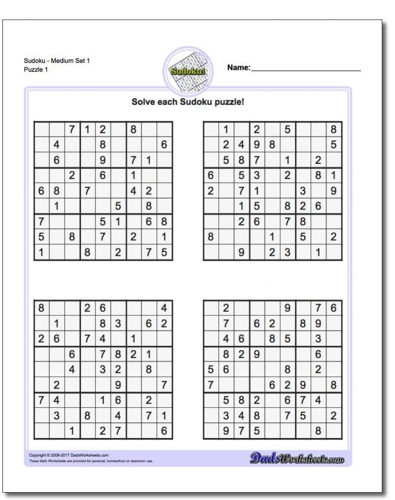 Printable Sudoku Free - Printable Binary Puzzle