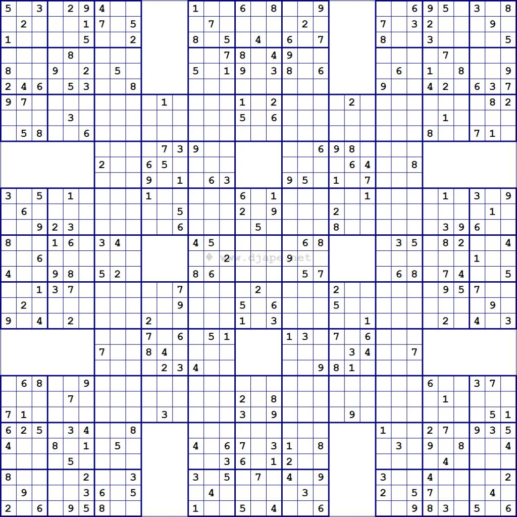 Printable Sudoku Free - Printable Sudoku X Puzzles