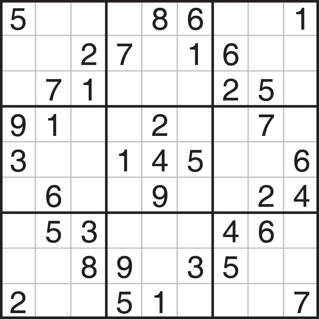 Printable Sudoku - Printable Sudoku Puzzle Easy