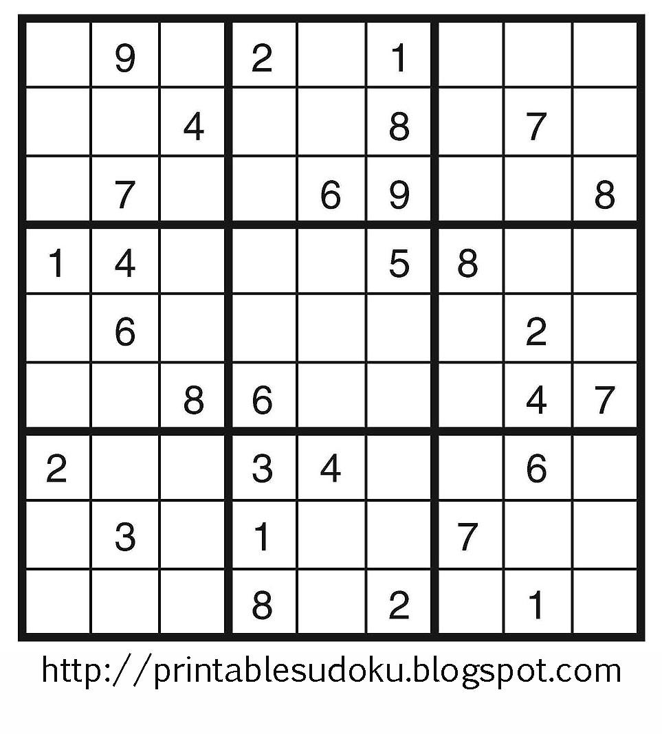 Printable Sudoku - Printable Sudoku Puzzles 3X3