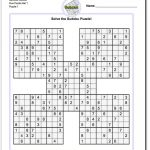 Printable Sudoku Samurai! Give These Puzzles A Try, And You'll Be   Printable Sudoku Puzzles Easy #2