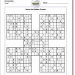 Printable Sudoku Samurai! Give These Puzzles A Try, And You'll Be   Printable Sudoku Puzzles One Per Page