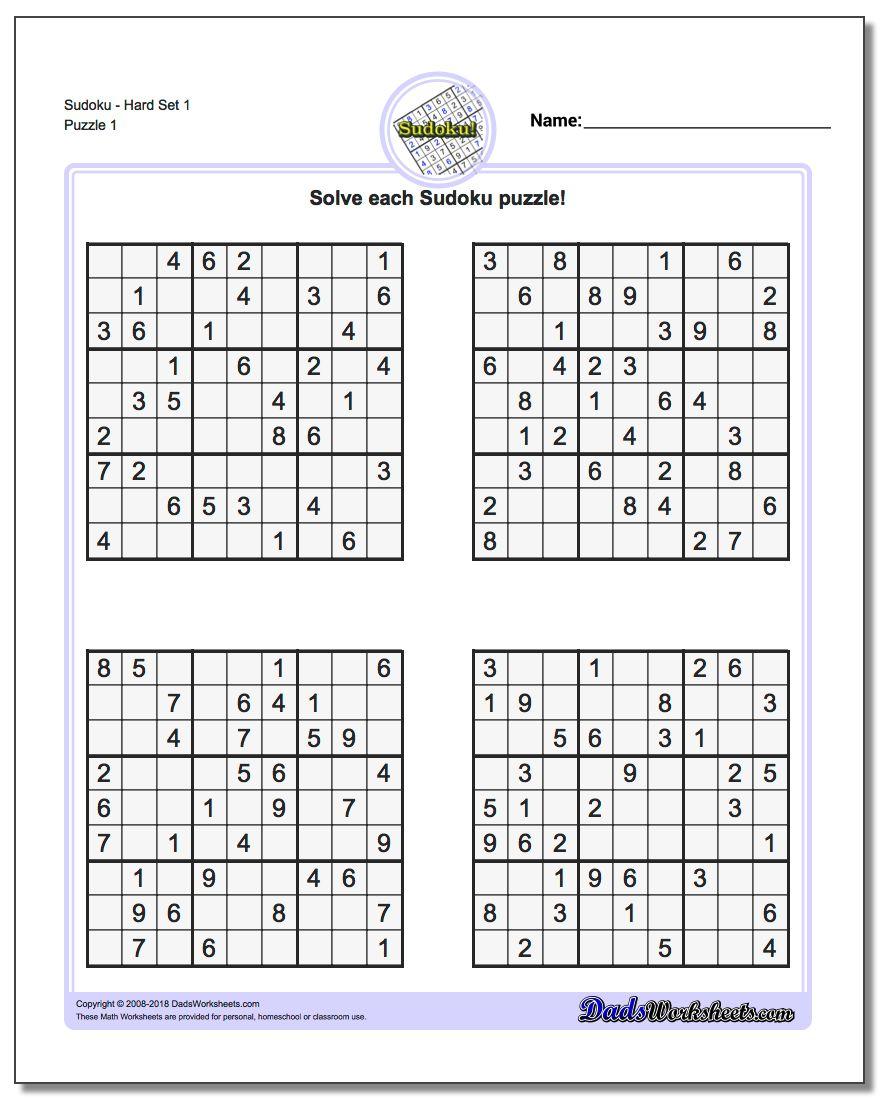 Printable Sudoku Sheets | Ellipsis - Printable Sudoku Puzzle Site