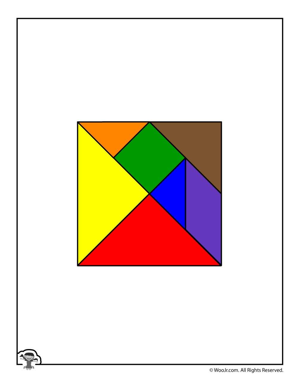 Printable Tangram Puzzle Pieces   Woo! Jr. Kids Activities - Printable Tangram Puzzle Pieces