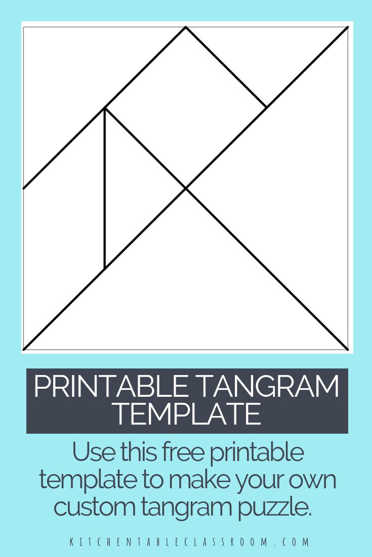 Printable Tangrams - An Easy Diy Tangram Template   Art For - Printable Tangram Puzzle Pieces
