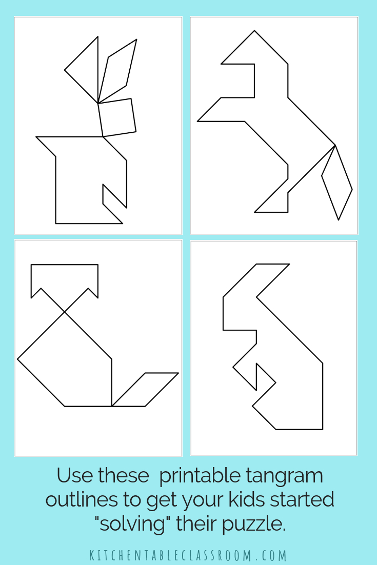 Printable Tangrams - An Easy Diy Tangram Template | Art For - Printable Tangram Puzzles