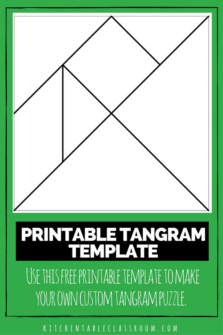 Printable Tangrams - An Easy Diy Tangram Template | Circle | Tangram - Printable Tangram Puzzle Templates