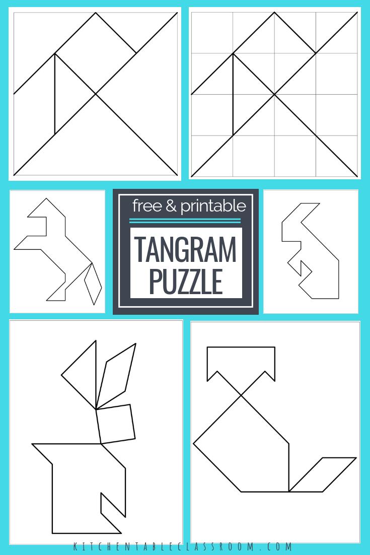 Printable Tangrams - An Easy Diy Tangram Template | Free Homeschool - Printable Tangram Puzzle Templates