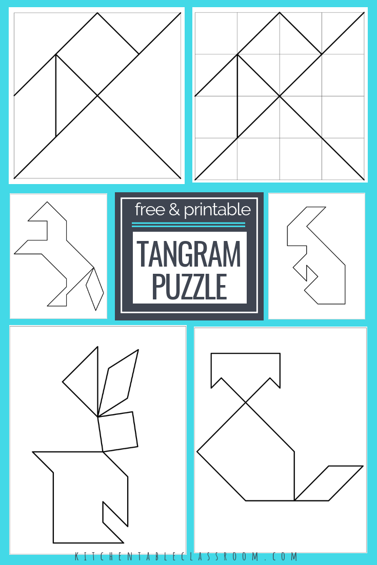 Printable Tangrams - An Easy Diy Tangram Template | Free Homeschool - Printable Tangram Puzzle