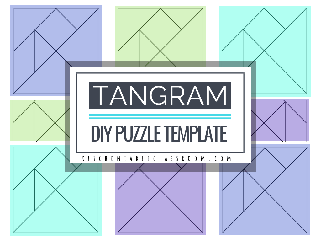 Printable Tangrams - An Easy Diy Tangram Template - The Kitchen - Printable Tangram Puzzles Pdf
