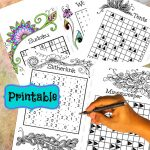 Printable Word Number And Logic Puzzles Combined With Adult   Etsy   Printable Minesweeper Puzzles