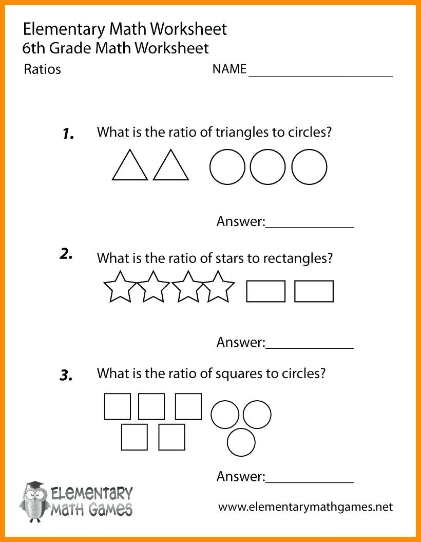 Printable Worksheets For 6Th Graders Grade Math Ratios Worksheets - Printable Puzzles For 6Th Grade