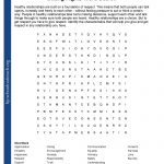 Printable Worksheets   Free Printable Recovery Crossword Puzzles