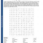 Printable Worksheets   Printable Crossword Word Search