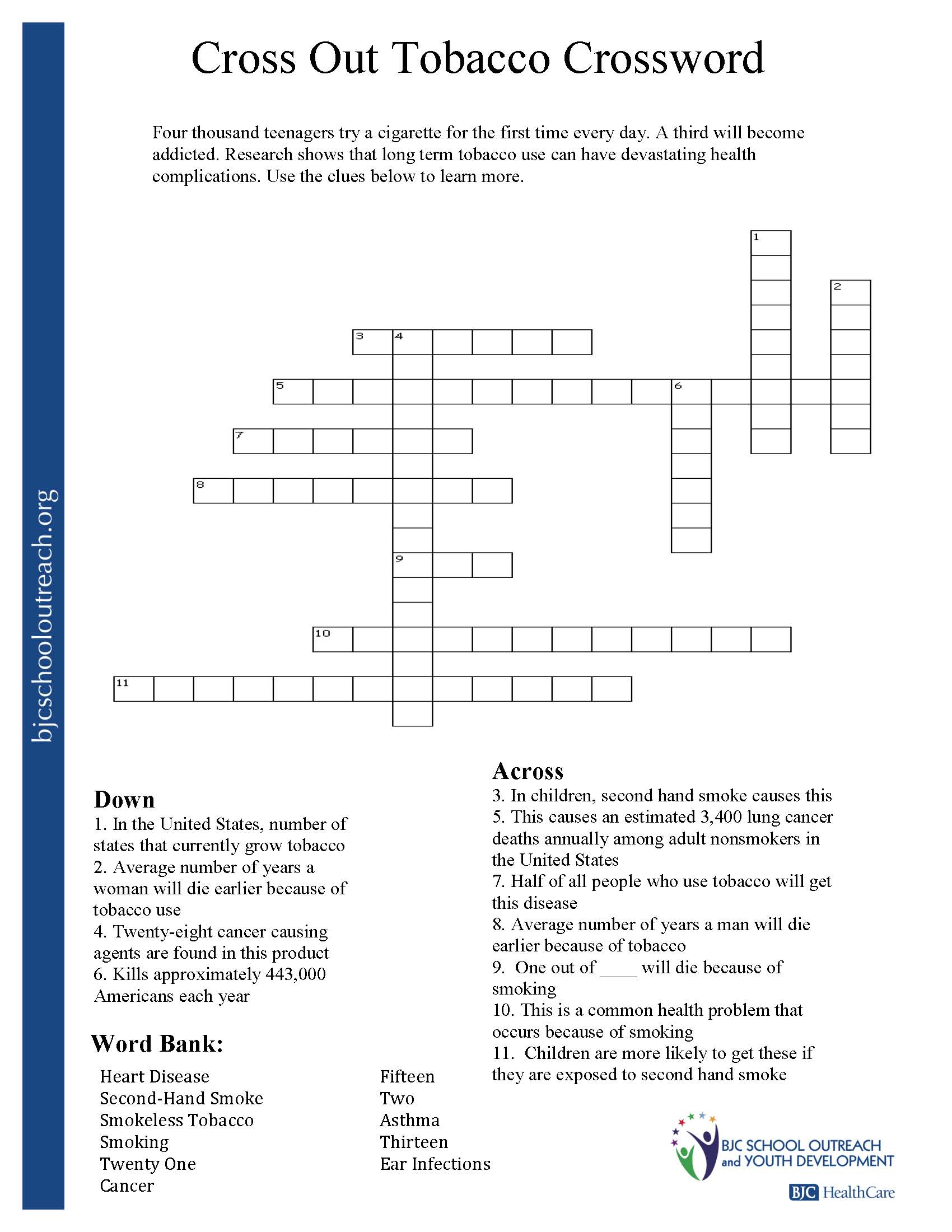 Printable Worksheets - Printable Recovery Crossword Puzzles