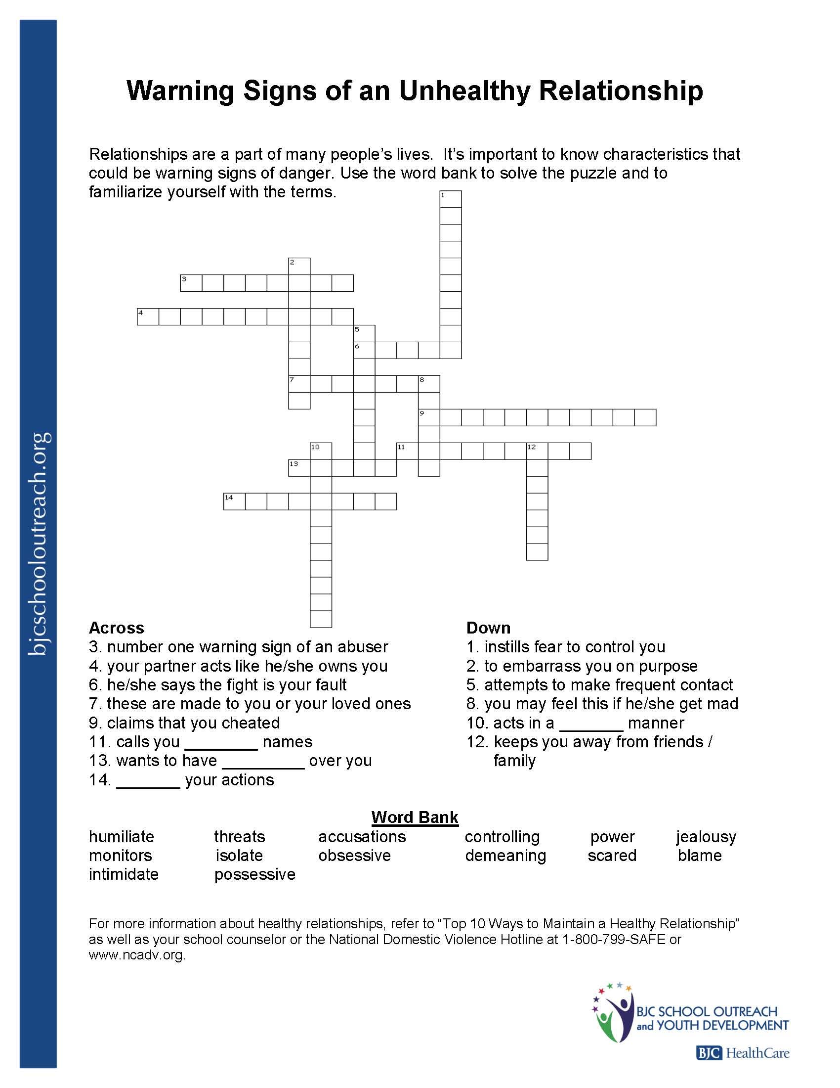 Printable Worksheets - Printable Worksheets Crossword Puzzles
