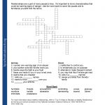 Printable Worksheets   Respect Crossword Puzzle Printable